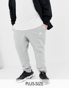 Серые джоггеры с логотипом-галочкой Nike Plus Club 804408-063-Серый