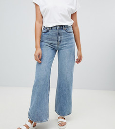 Широкие джинсы из органического хлопка Weekday Ace-Синий