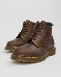 Коричневые ботинки с 6 парами люверсов Dr Martens 939-Коричневый