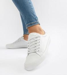 Белые кроссовки на шнуровке ASOS DESIGN - Dustin-Белый