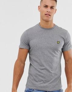 Серая меланжевая футболка с логотипом Lyle & Scott-Серый