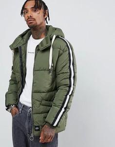 Дутая куртка цвета хаки Sixth June-Зеленый