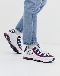 Бело-красные кроссовки с логотипом Fila - Silva-Белый