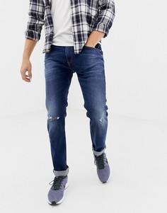 Эластичные узкие джинсы Diesel 084ZB-Синий