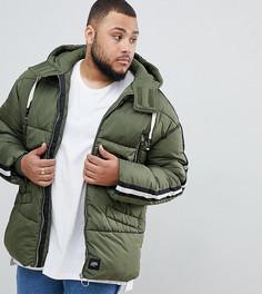 Дутая куртка цвета хаки Sixth June эксклюзивно для ASOS-Зеленый