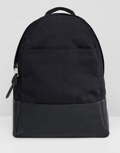 Большой парусиновый рюкзак ASOS DESIGN-Черный