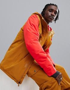 Куртка для катания на сноуборде (коричневый/красный) Quiksilver Mission Solid-Мульти