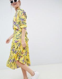 Асимметричная юбка с цветочным принтом Moves By Minimum-Мульти