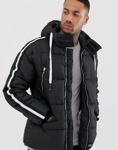 Черная куртка-пуховик Sixth June-Черный