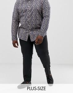 Черные зауженные брюки River Island Big & Tall-Серый