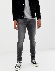 Серые джинсы скинни с классической талией Levis 501-Синий