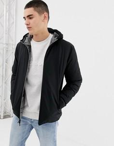 Двусторонняя дутая куртка с капюшоном черного цвета Jack & Jones Originals-Черный