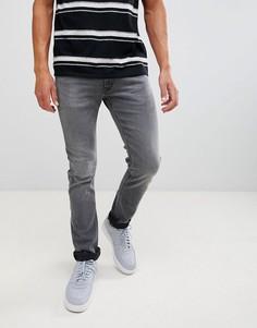 Серые узкие джинсы с суженными книзу штанинами Lee Jeans Luke-Серый