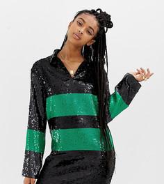 Платье мини с пайетками COLLUSION-Черный