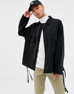 Черная куртка в стиле милитари ASOS DESIGN-Черный