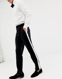 Черные брюки скинни под смокинг ASOS DESIGN-Черный