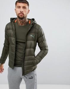 Зеленая складывающаяся куртка с капюшоном Puma 85162115-Зеленый