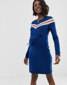Платье в полоску Mamalicious-Синий Mama.Licious