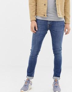 Зауженные джинсы Nudie Jeans Co - Skinny Lin (mid authentic power)-Синий