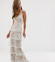 Белое кружевное платье макси Bariano-Белый