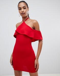 Платье с оборкой AX Paris-Красный