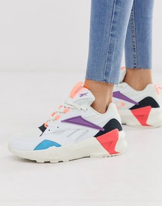 Белые/фиолетовые кроссовки Reebok - Aztrek-Белый