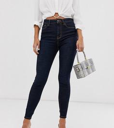 Синие джинсы с завышенной талией Stradivarius-Черный