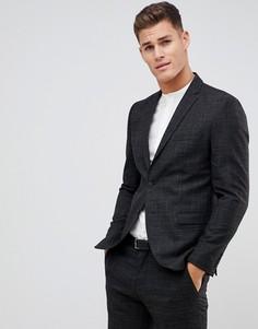 Черный зауженный пиджак Selected Homme