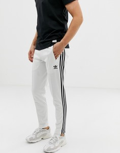Белые джоггеры с полосками adidas Originals Beckenbauer 3-Белый