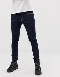 Темные джинсы супероблегающего кроя Diesel D-Amny-Синий