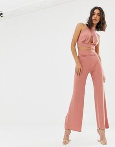Широкие брюки Love-Розовый