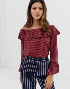 Блузка с открытыми плечами и оборками Closet-Мульти