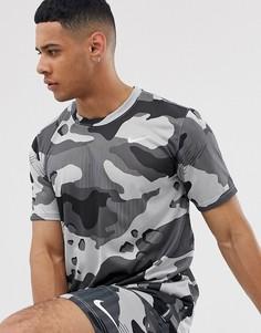 Серая футболка с камуфляжным принтом Nike Training-Серый