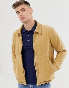 Вельветовая куртка на молнии Another Influence-Светло-коричневый