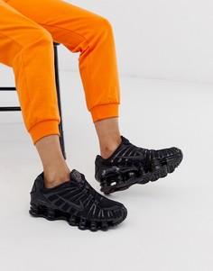 Черные кроссовки Nike - Shox Total-Белый