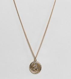 Золотистое ожерелье с подвеской Reclaimed Vintage inspired эксклюзивно для ASOS-Золотой