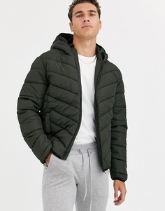 Дутая куртка цвета хаки New Look-Зеленый