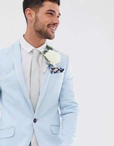 Голубой приталенный пиджак River Island Wedding-Синий