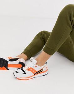 Бело-оранжевые кроссовки Saucony Azura OG-Белый