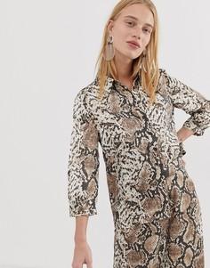 Рубашка со змеиным принтом Pieces-Мульти