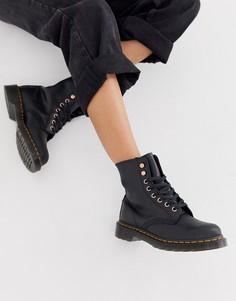Черные кожаные ботильоны Dr Martens 1460-Черный