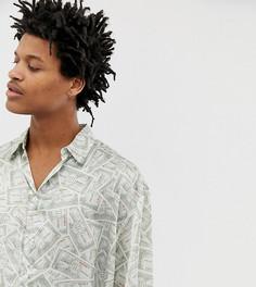 Oversize-рубашка с принтом Milk It Vintage-Зеленый