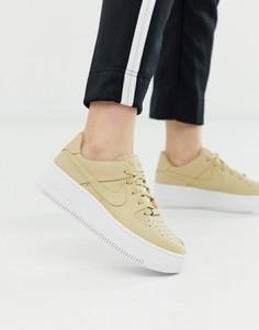 Бежевые кроссовки Nike Air Force 1 sage-Бежевый