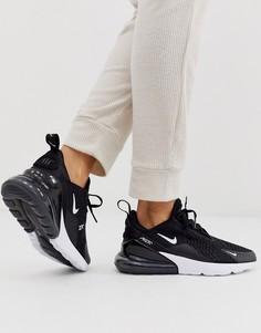 Черно-белые кроссовки Nike Air Max 270-Черный