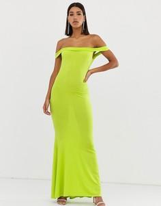 Платье макси Club L-Зеленый