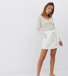 Джинсовая мини-юбка с ремнем Vero Moda Petite-Белый