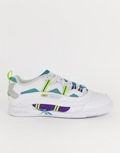 Белые классические спортивные кроссовки с воссозданным дизайном Reebok plus-Белый