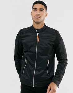 Черная байкерская куртка из нейлона Diesel J-Shiro-Черный