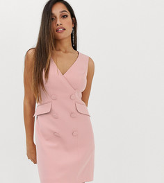 Розовое платье-смокинг с пуговицами Forever New Petite-Розовый