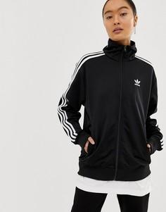 Черная куртка с тремя полосками adidas Originals Firebird-Черный